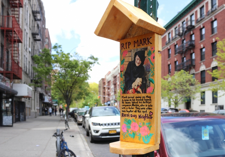 A memorial on 207th Street, May 2020